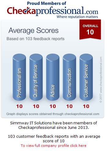 Checkaprofessional information for Simmway IT Solutions